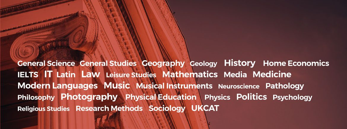 Private tutors subjects